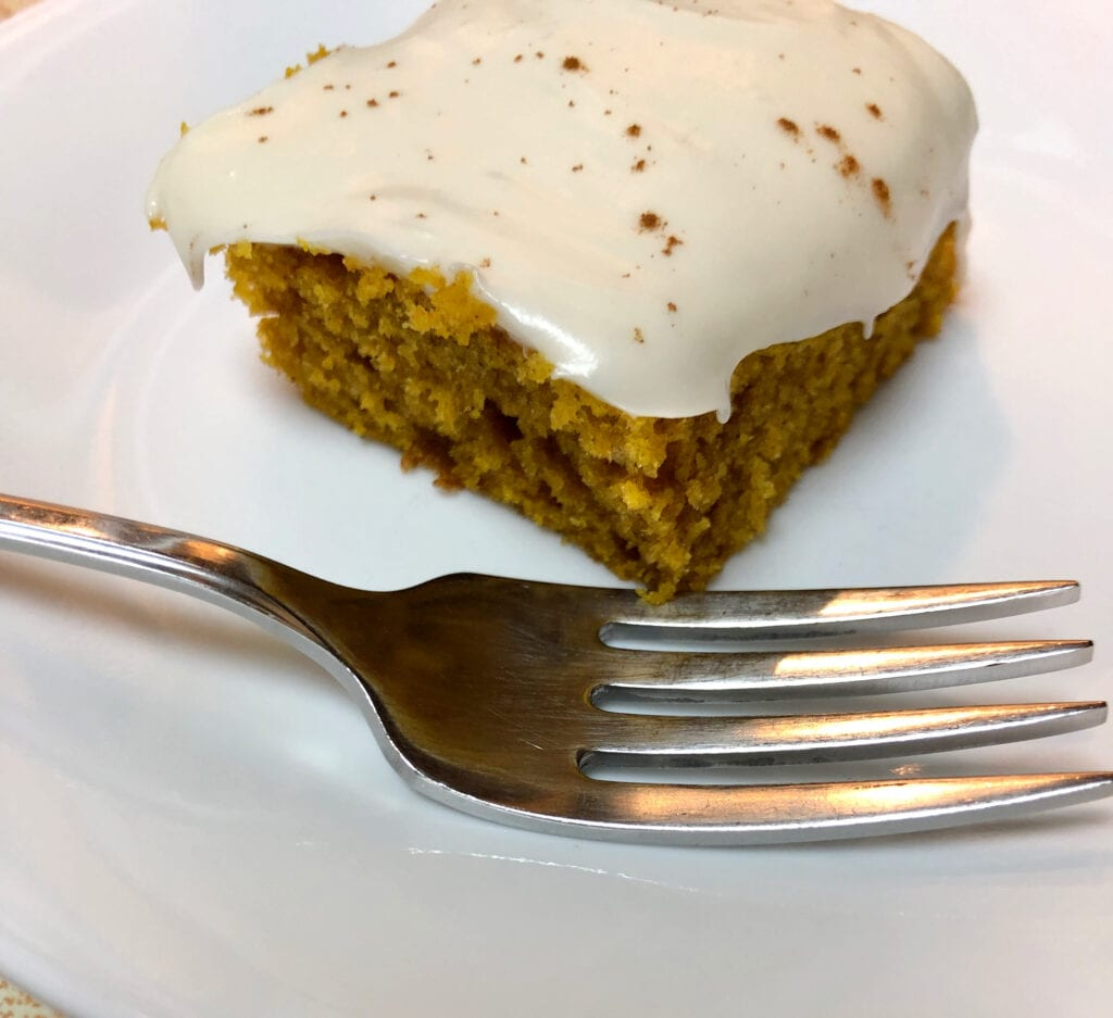 Serving the Pumpkin Dessert with a Light Dusting of Cinnamon