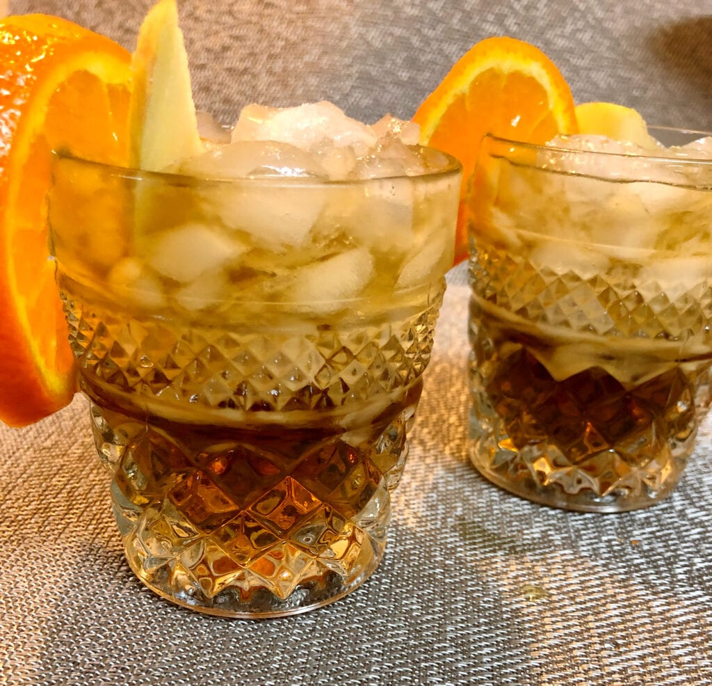 Simple Fall Cocktail Served in Glasses with Ice