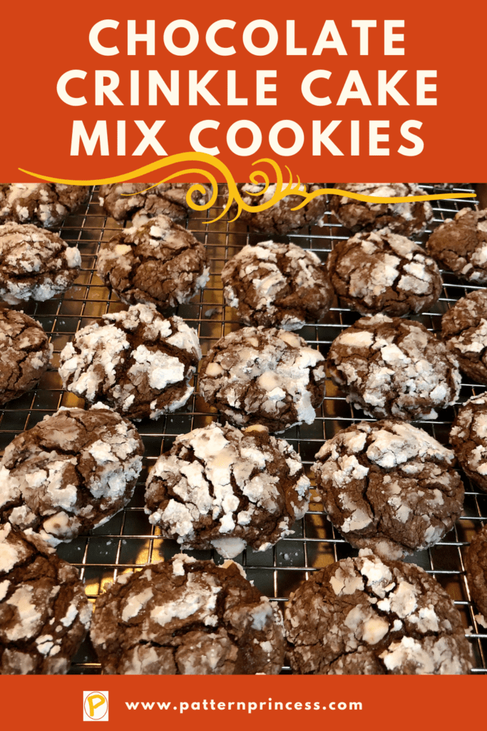 Chocolate Crinkle Cake Mix Cookies