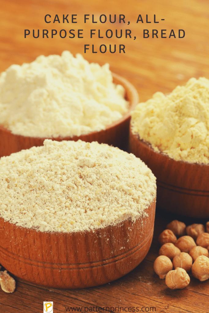 Cake Flour, All-Purpose Flour, Bread Flour