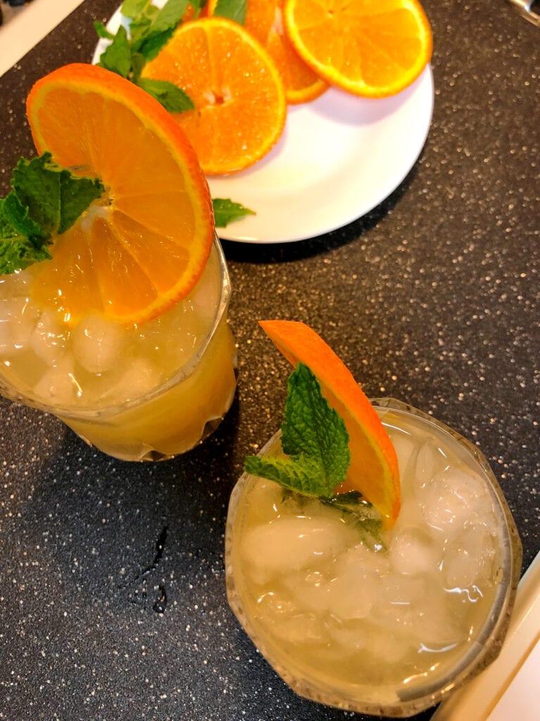 Garnish of Mint and Orange