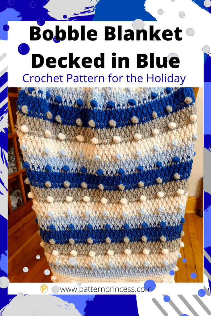 Bobble Blanket Decked in Blue
