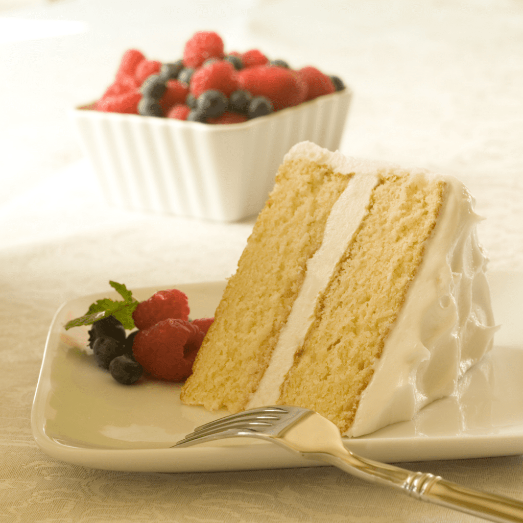 Layered White Cake with Buttercream Frosting