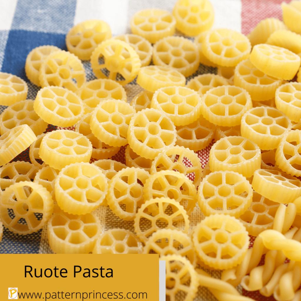 Ruote Pasta Wagon Wheel Shaped Pasta