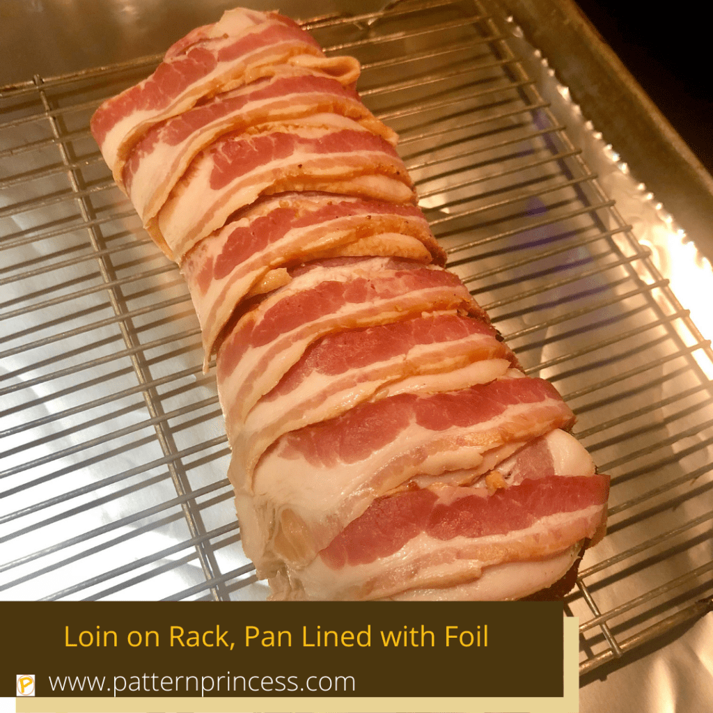 Loin on Rack, Pan Lined with Foil