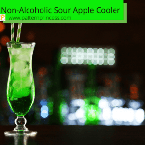 Non-Alcoholic Sour Apple Cooler Drink