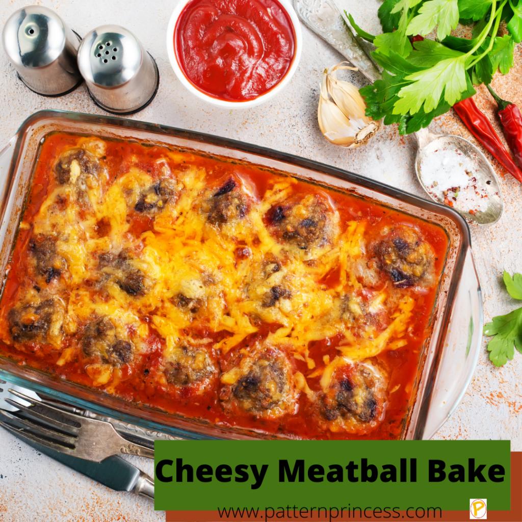 Cheesy Meatball Bake
