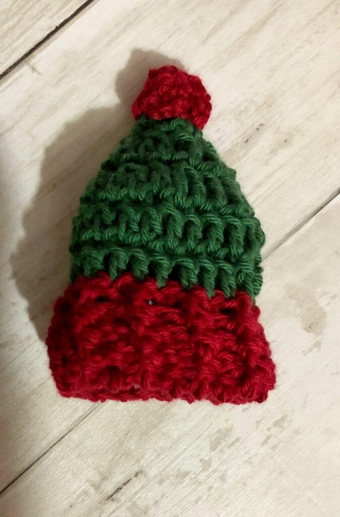 Crochet Hat Wine Bottle Topper