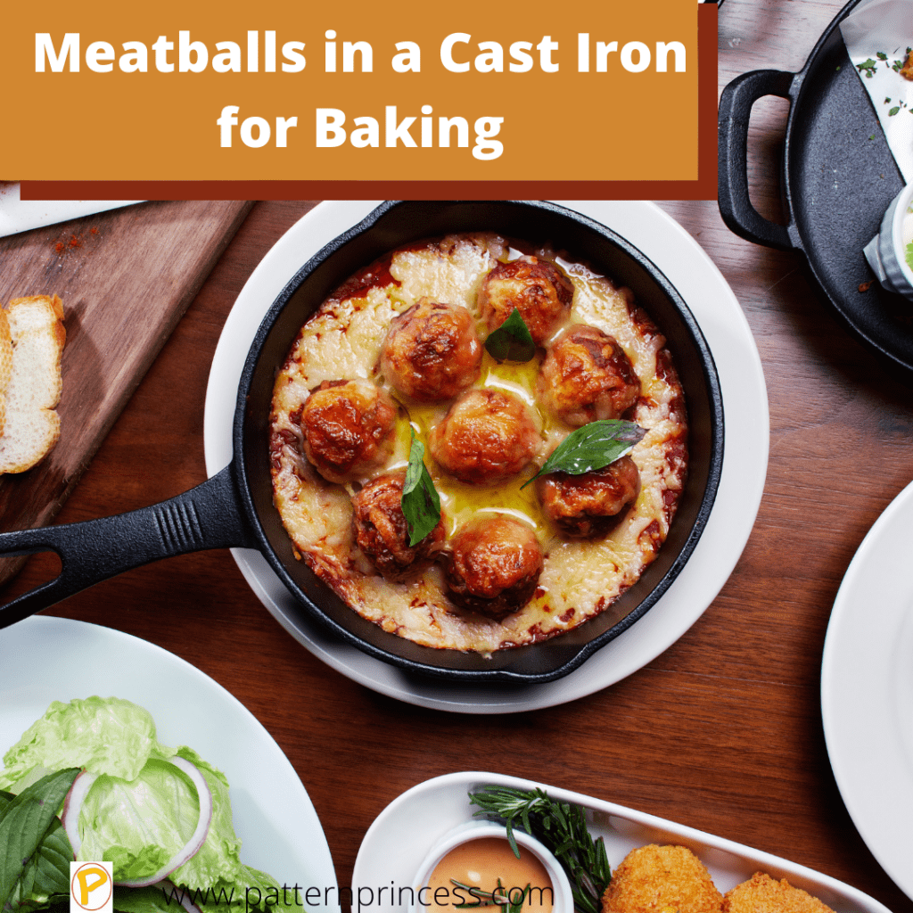 Meatballs in a Cast Iron for Baking