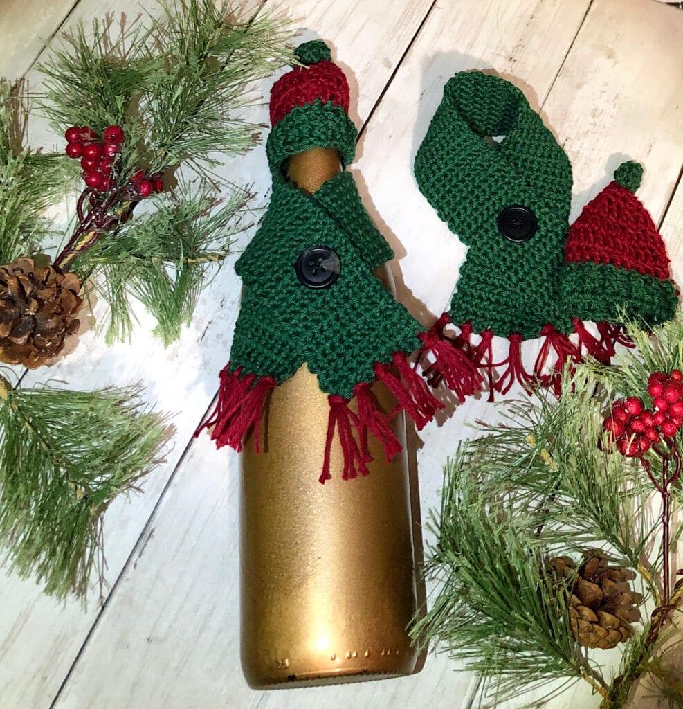 Wine Bottle Cozy Crochet Set