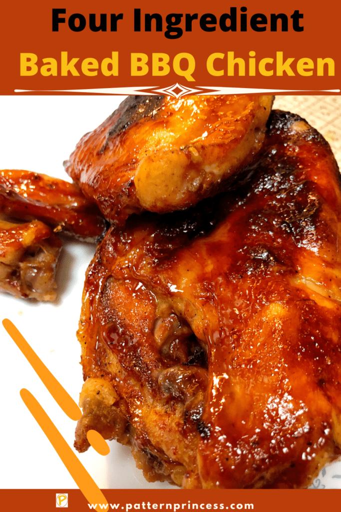 Four Ingredient Baked BBQ Chicken