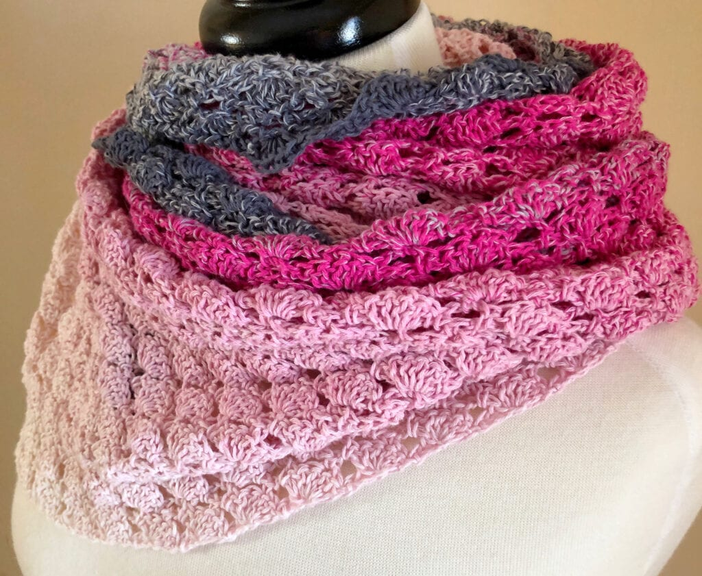 Crochet Scarf Wrapped Around Neck