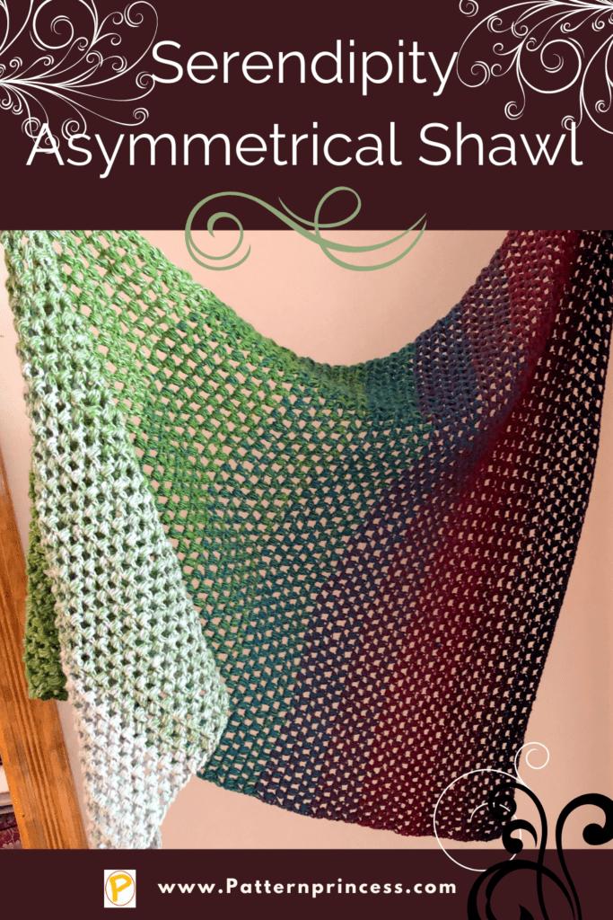 Serendipity Asymmetrical Shawl