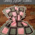 Blushing Ruffle Granny Square Blanket