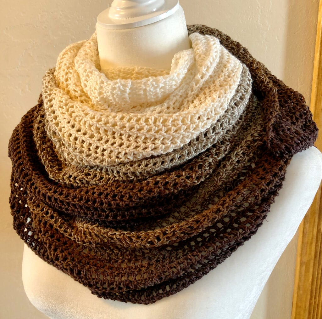 Ombre Moon Shawl Worn as a Scarf