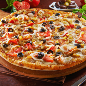 Supreme Pizza Cooked