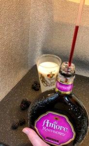 Adding the Raspberry Liqueur