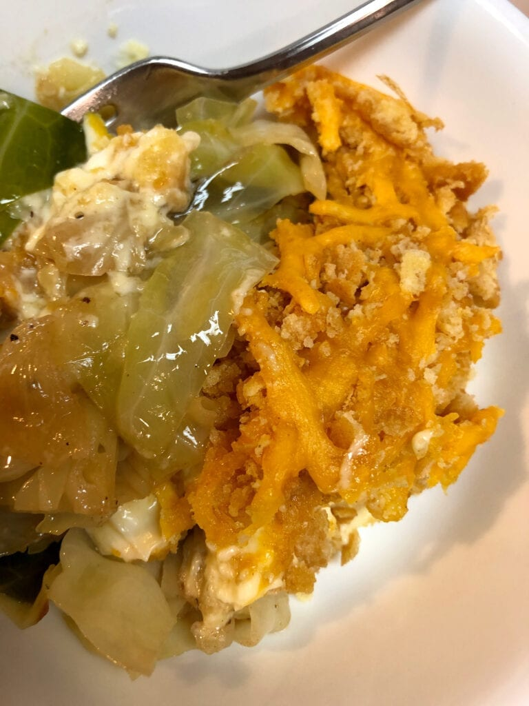 Old Fashioned Creamed Cabbage