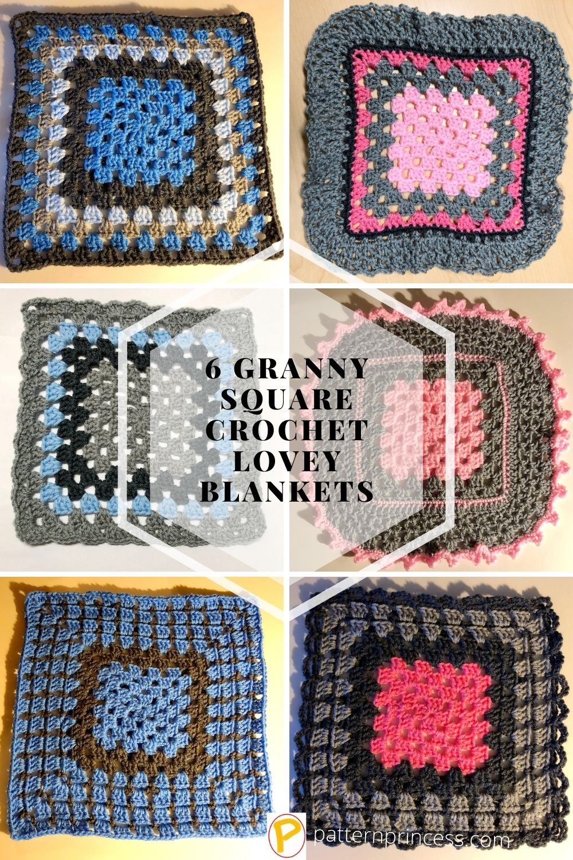 6 Granny Square Crochet Lovey Blanket Patterns