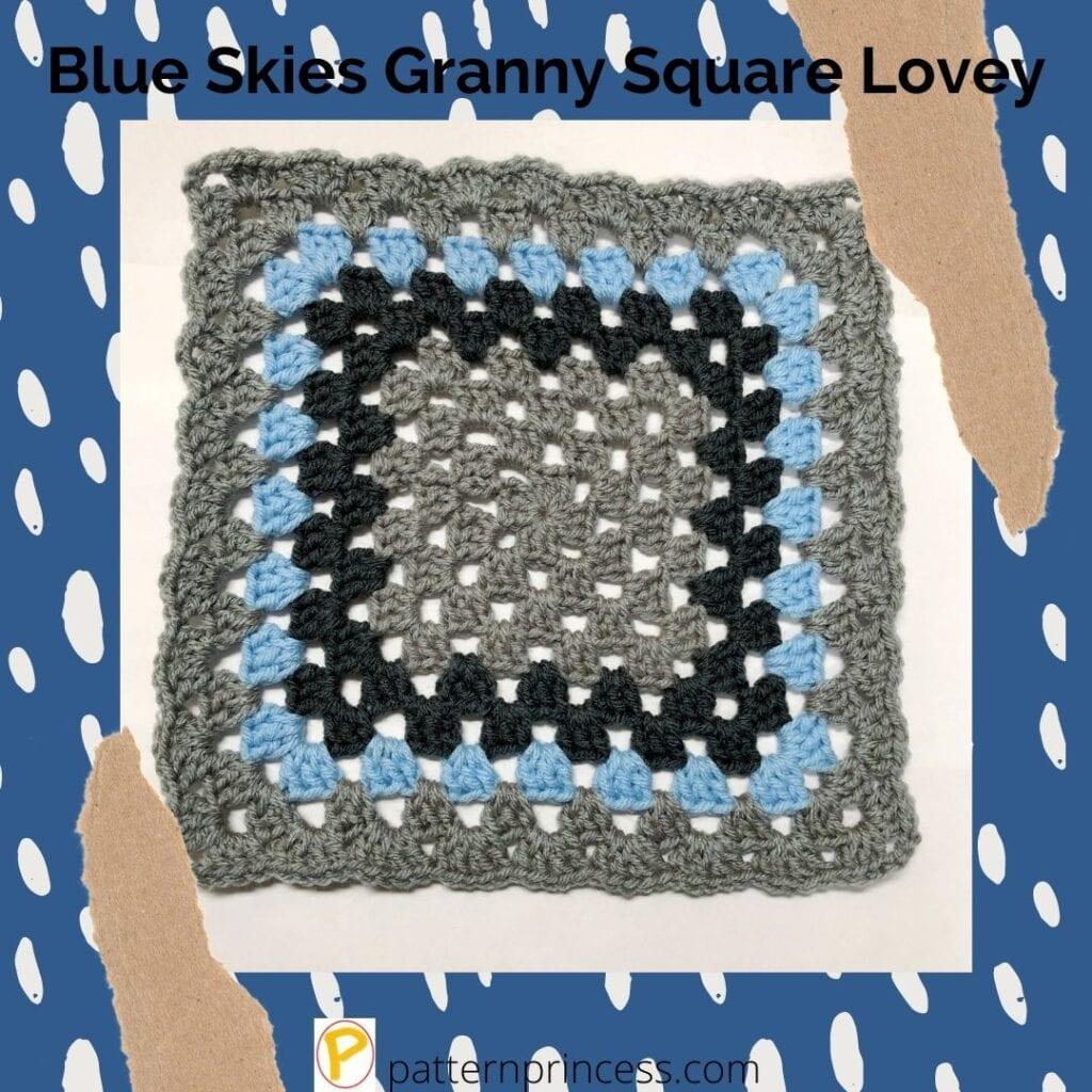 Blue Skies Granny Square Lovey