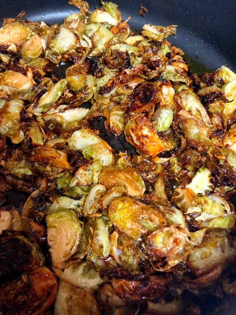 Frying Sprouts in Non-Stick Skillet