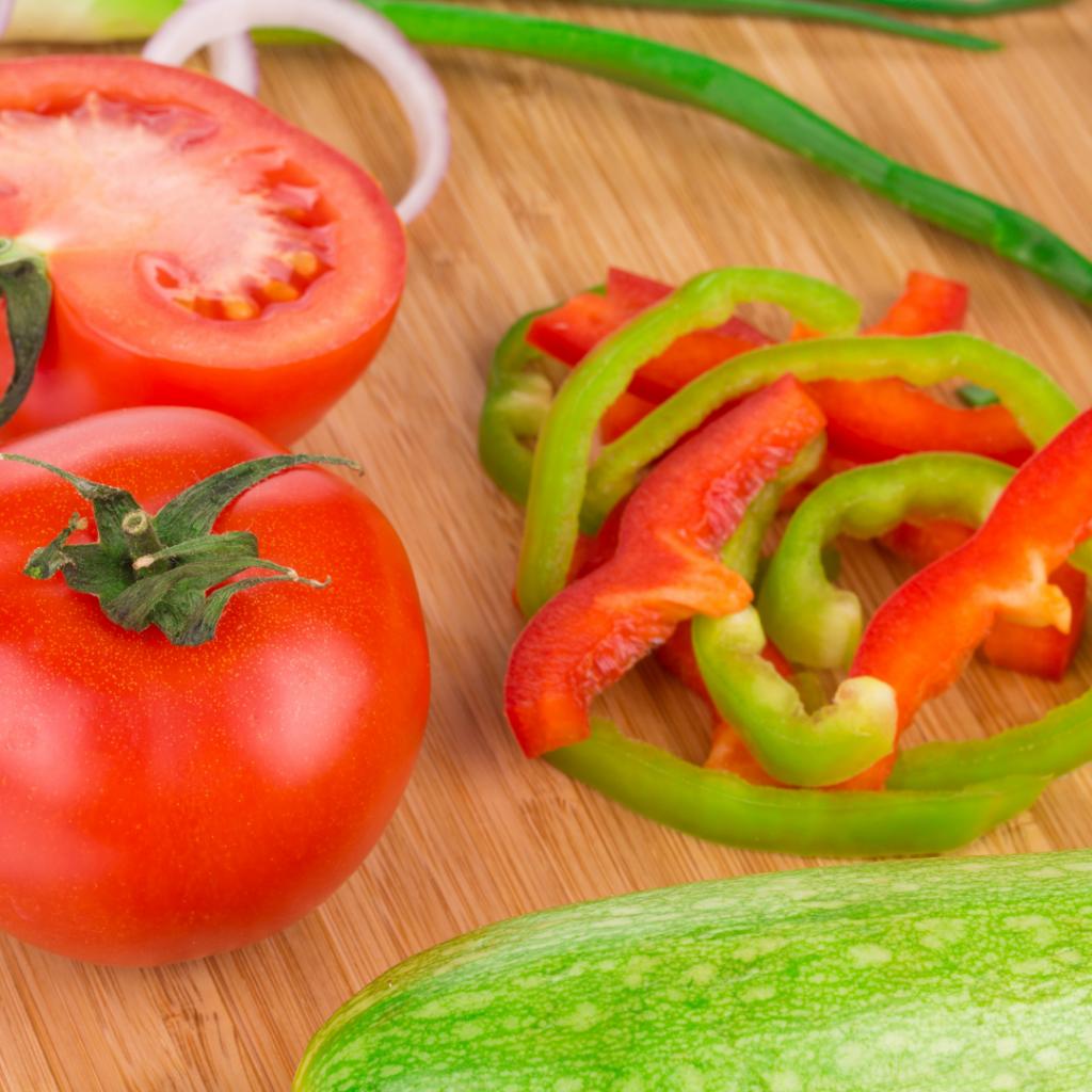 Prepping Vegetables