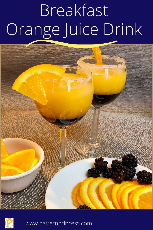 Breakfast Orange Juice Drink
