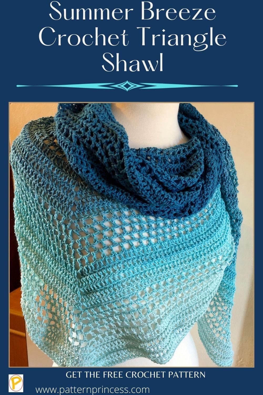Summer Breeze Crochet Triangle Shawl
