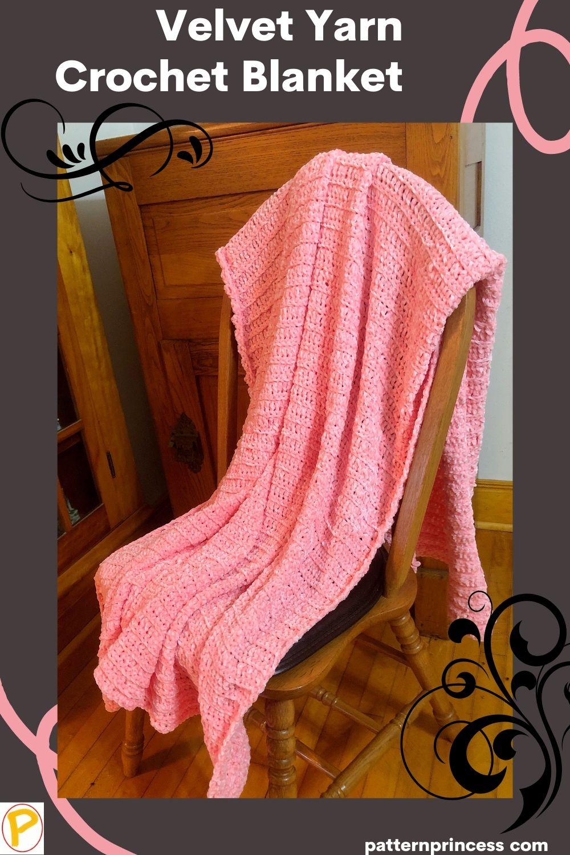 Velvet Yarn Crochet Blanket