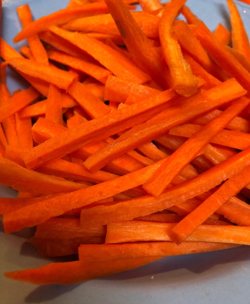 Julienne Carrots