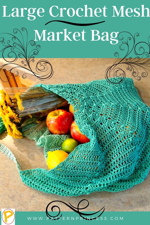 Large Crochet Mesh Market Bag