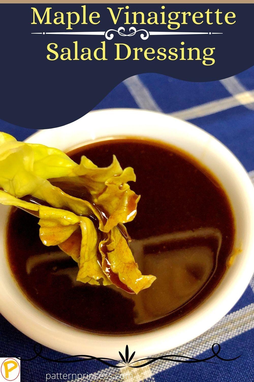 Maple Vinaigrette Salad Dressing