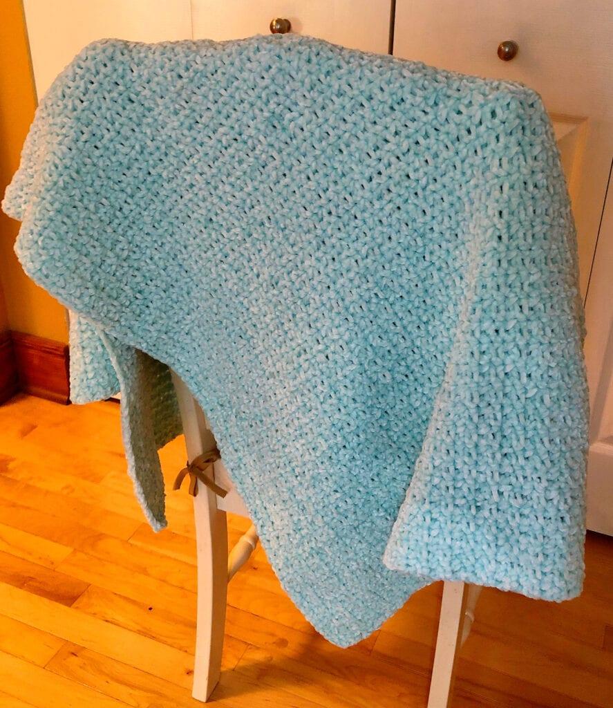 Minty Blue Afghan Crochet Pattern