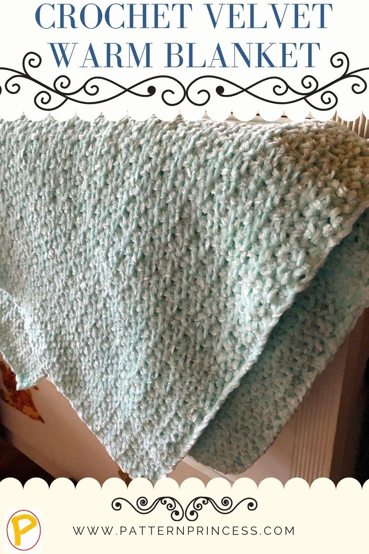 crochet velvet warm blanket (1)