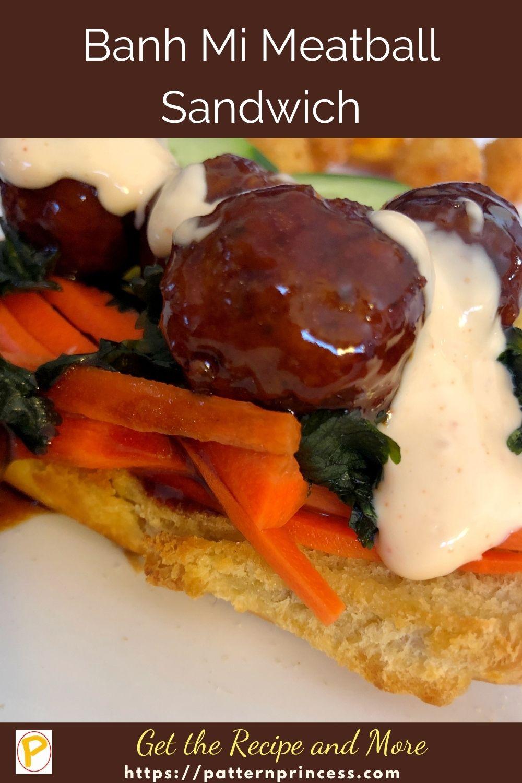 Banh Mi Meatball Sandwich