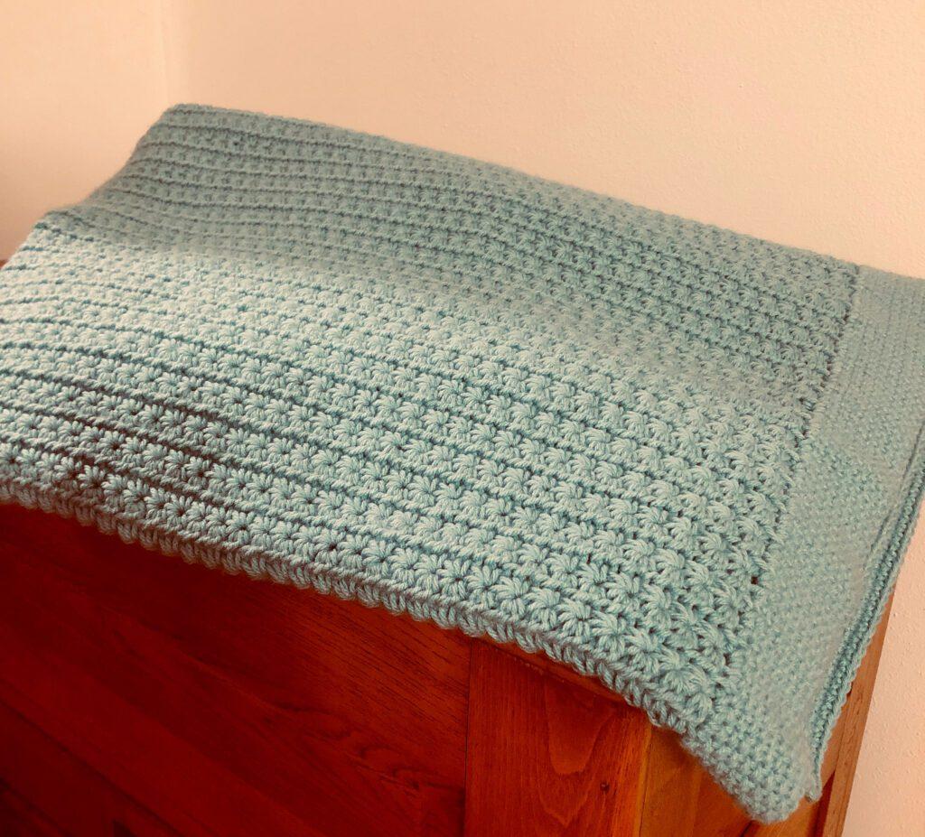 Daisy Stitch Afghan Folded