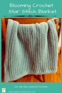 Blooming Crochet Star Stitch Blanket