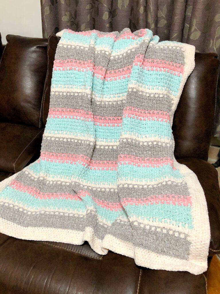 Large Fluffy Handmade Afghan