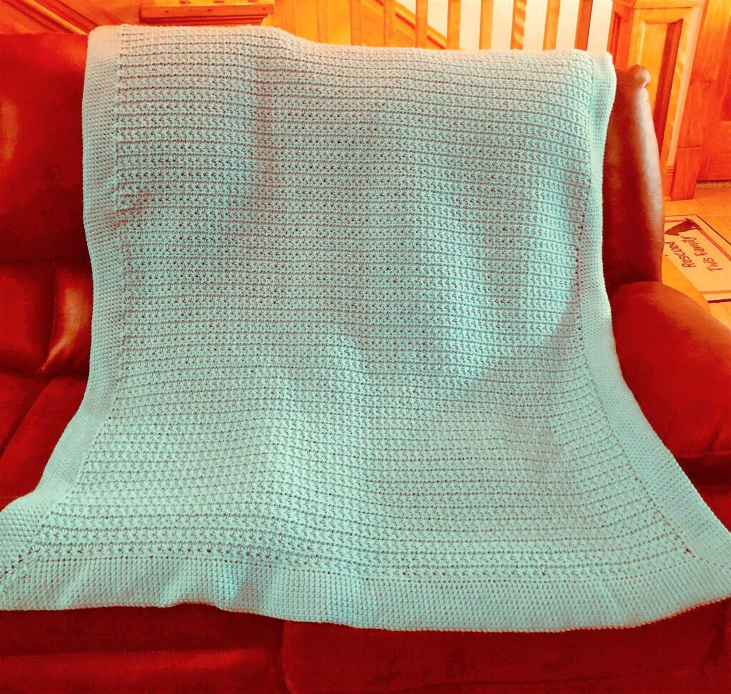 Large Star Stitch Blanket on Sofa