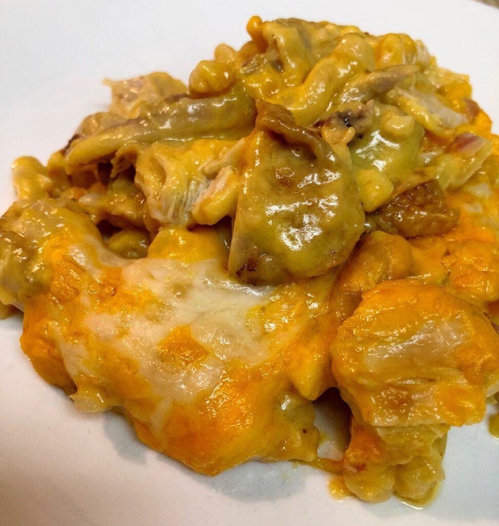 Rotisserie Chicken Casserole Served