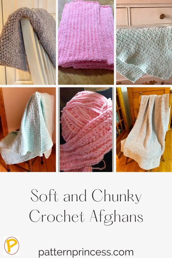 Soft and Chunky Crochet Blankets