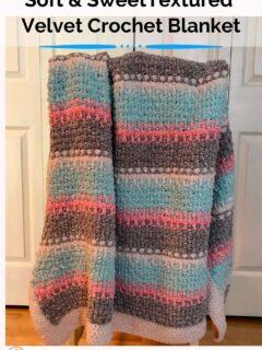 Soft and Sweet Textured Velvet Crochet Blanket