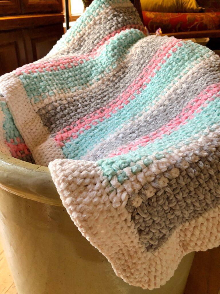 Soft and Warm Chunky Crochet Afghan