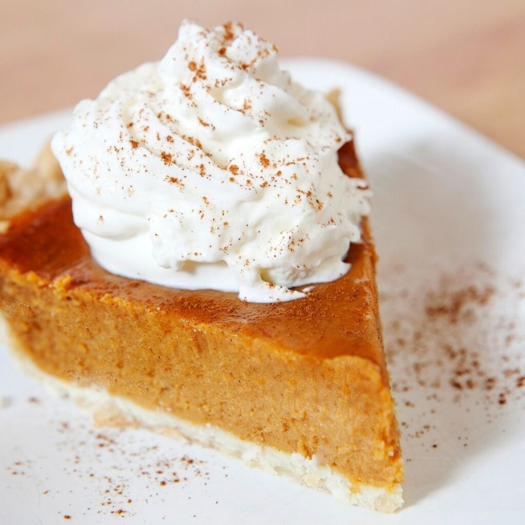 Slice of Pie with Homemade Whipping Cream