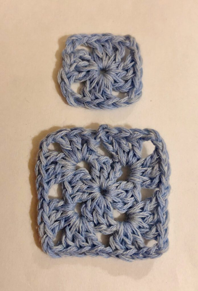 Small and Large Granny Square