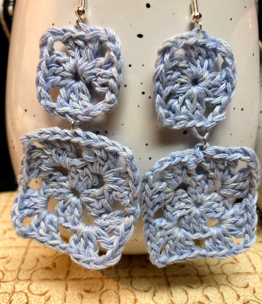 Small and Large Granny Square Earrings