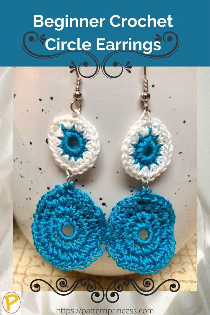 Beginner Crochet Circle Earrings