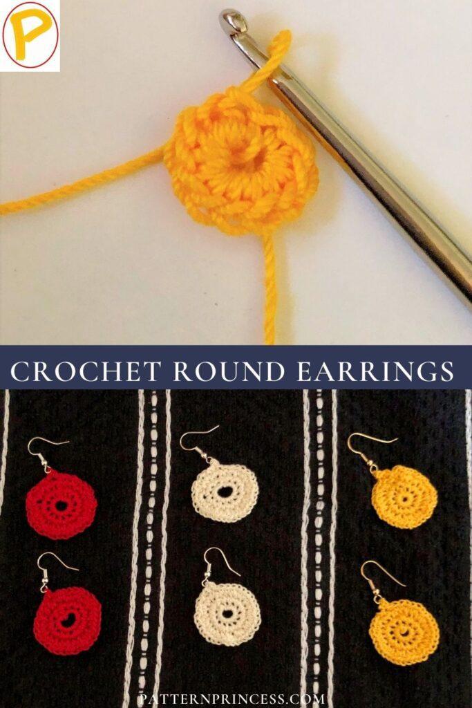 Crochet Round Earrings