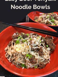 Easy Beef Teriyaki Noodle Bowls