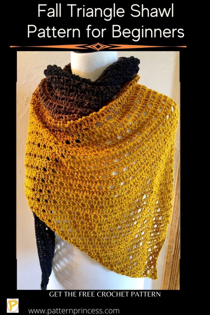 Fall Triangle Shawl Pattern for Beginners